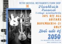 Music Shop   Guitar Sale Postal template
