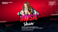 music show social media post Message Twitter template