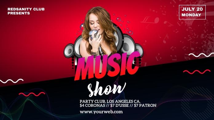 music show social media post template