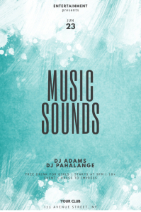 Music Sounds Party Flyer Template
