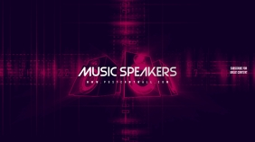 Music Speakers Youtube Channel Art Banner
