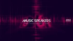 Music Speakers Youtube Channel Art Banner