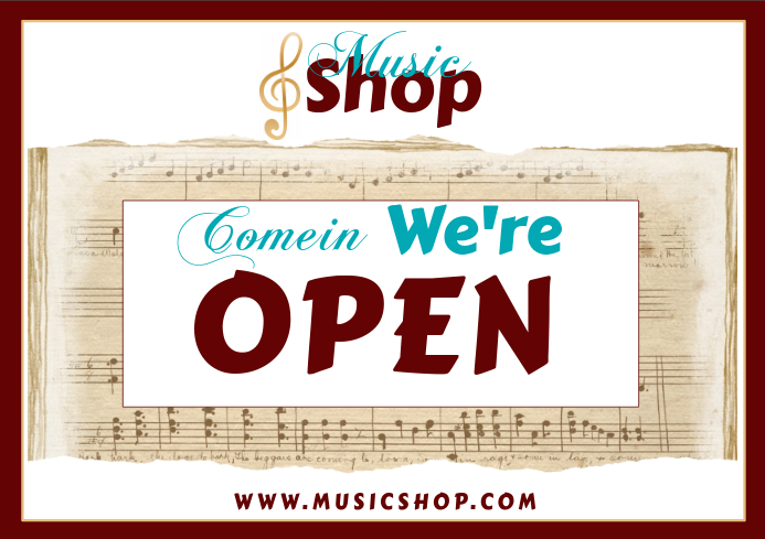 music store schedule template postermywall