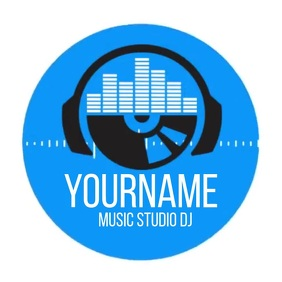 MUSIC STUDIO LOGO SOCIAL MEDIA TEMPLATE