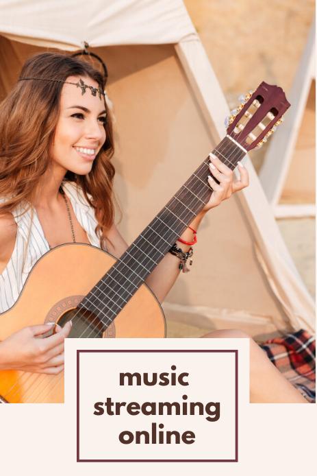 Music Style Gráfico de Pinterest template