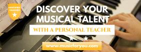 Music Tutor Facebook Cover Template