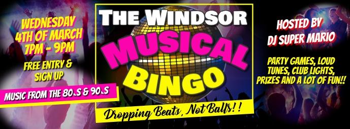 Musical Bingo Couverture Facebook template