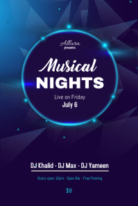 Musical Night Flyer Poster