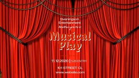 MUSICAL PLAY VIDEO AD TEMPLATE Digitalanzeige (16:9)