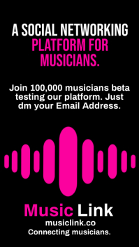 Musician Connecting Network Template Historia de Instagram