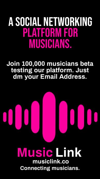 Musician Connecting Network Template Instagram-verhaal