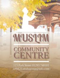 Muslim Community Centre Flyer Design Template