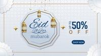 muslim eid Twitter-opslag template
