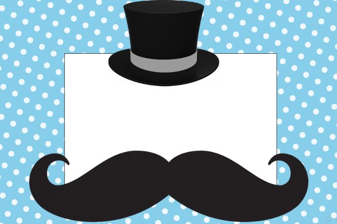 Mustache Man Photo Prop Frame