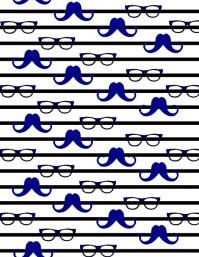 Mustache Sunglass Background