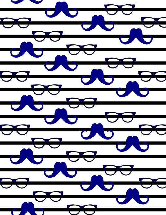 Mustache Sunglass Background