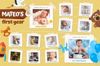 Mustard 1st year of life poster template