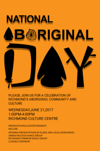 Mustard Aboriginal Day Poster Template