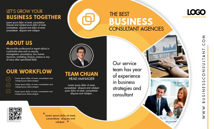 Mustard Bifold Business Brochure Legal AS template