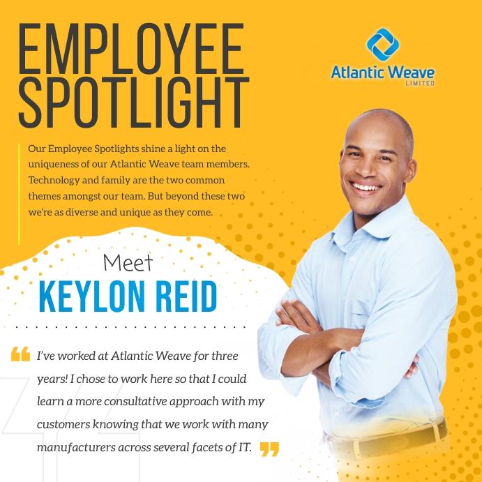 Mustard Employee Spotlight Instagram Image template