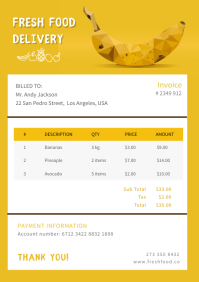 Mustard Grocery Delivery Invoice