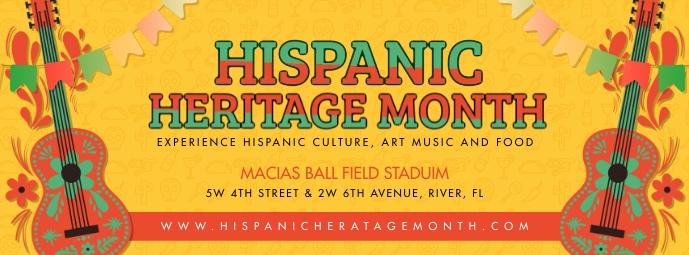 Mustard Hispanic Heritage Month Banner Portada de Facebook template