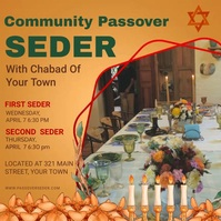 Mustard Passover Invitation e-card Instagram Plasing template