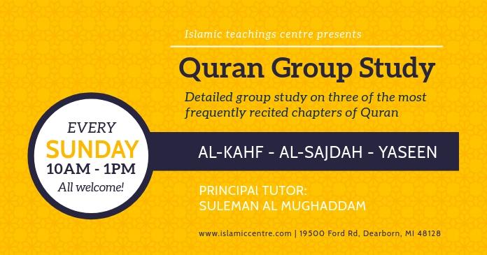 Mustard Quran Study Invitation Facebook Post