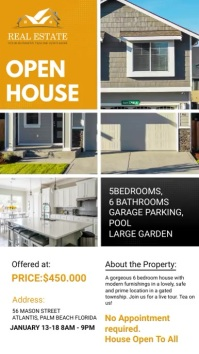 Mustard Real Estate Agency Open House Ad Digitale Vertoning (9:16) template