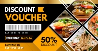 Mustard Restaurant Gift Voucher Facebook Shared Image template