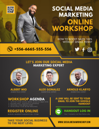 Mustard Social Media Marketing Workshop Flyer