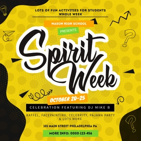 Mustard Spirit Week School Advert