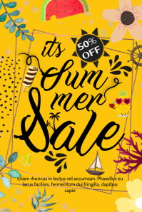 Mustard Summer Sale Typography Poster