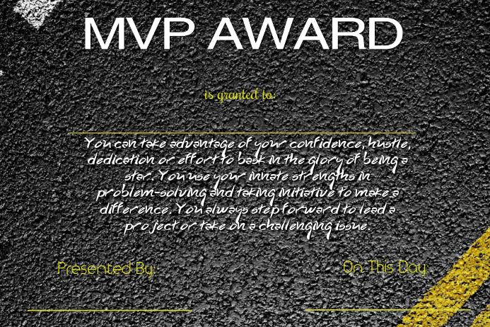 mvp award template postermywall