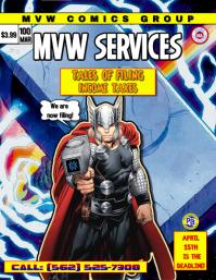 MVW Comics Flyer (US Letter) template