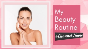 my beauty routine youtube thumbnail design te YouTube-miniature template