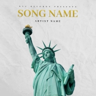my city NYC Rap Trap mixtape cover design template