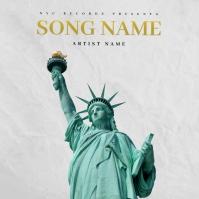 my city NYC Rap Trap mixtape cover design template Pochette d'album