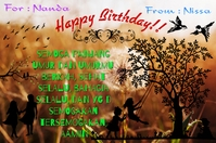 My design_Birthday 1 Label template