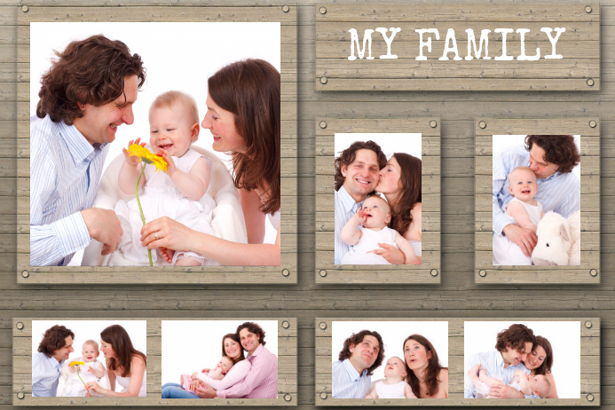 my family photos collage
