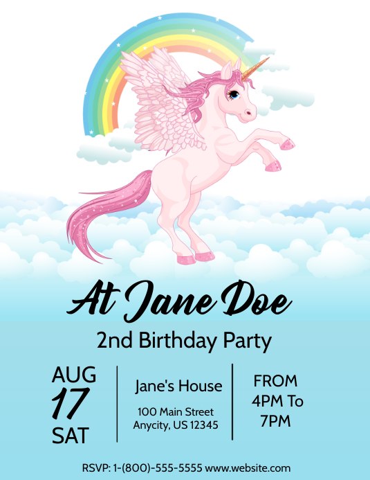 My Little Pony Bday Invite Customize Template