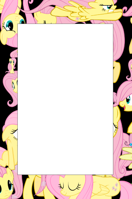 My Little Pony Party Prop Frame Template Postermywall