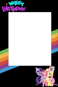 my little pony party prop frame