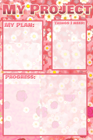 My Project - template with floral background
