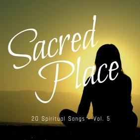 My Sacred Place 2 gospel church album cover template