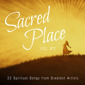My Sacred Place 3 gospel church album cover Portada de Álbum template