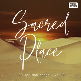 My sacred place gospel music church album 专辑封面 template