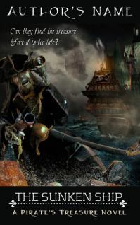 Mystery Ebook Cover - SUNKEN SHIP Sampul Buku template
