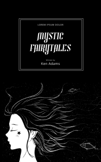 Mystic Night Kids Fairytale Black Book Cover