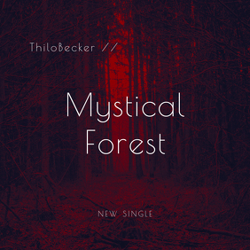 Mystical Forest CD Cover Template